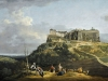 Pevnost Königstein na obrazu Giovanniho Antonia Canala z poloviny 18. století